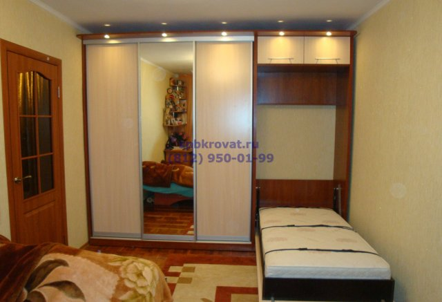 Шкафы купе с кроватью фото